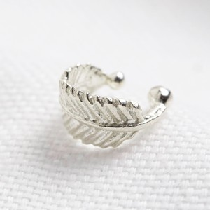 Tiny Sterling Silver Feather Ear Cuff