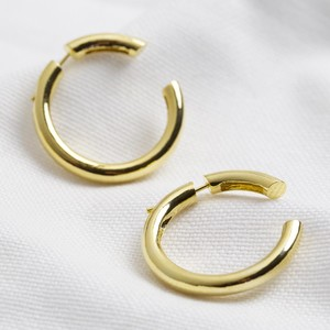 Two Part Hoop Earrings in Gold