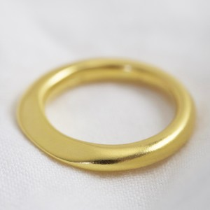 Gold Sterling Silver Organic Shape Ring - Medium