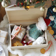 Inside of Personalised 'If The Stars Were Kisses' Wooden Christmas Hamper Box