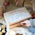 Lisa Angel Children's Personalised Christmas Scene Wooden Christmas Eve Box