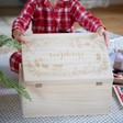 Lisa Angel Kids Personalised Name Wooden Christmas Eve Box