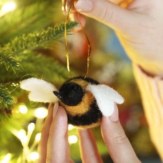 Felt Bee Hanging Decoration