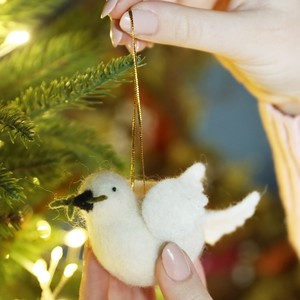 Felt Dove Hanging Decoration