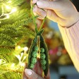 Lisa Angel Felt Peas in Pods Hanging Decoration