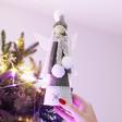Lisa Angel Grey Felt Angel Christmas Tree Topper