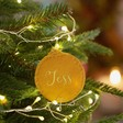Lisa Angel Mustard Orange Personalised Felt Bauble Shape Hanging Decoration