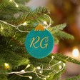 Lisa Angel Teal Personalised Felt Bauble Shape Hanging Decoration