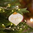 Lisa Angel White Personalised Felt Bauble Shape Hanging Decoration