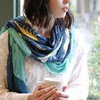 Lisa Angel Summer Lightweight Zodiac Print Scarf in Teal