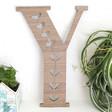 Large Decorative Wooden Letter 'Y'