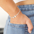 Lisa Angle Ladies' Delicate Sterling Silver Disc Bead Bracelet