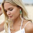 Lisa Angel Ladies' Statement Iridescent Acrylic Circle Drop Earrings