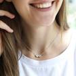 Lisa Angel Ladies' Personalised Sterling Silver Disc Bead Necklace