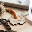Personalised Wooden Pomeranian Dog Hanging Decoration