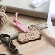 Personalised Wooden Yorkshire Terrier Dog Hanging Decoration