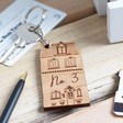 Personalised Wooden House Keyring