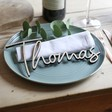 Lisa Angel Personalised Wooden Name Place Setting