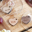 Lisa Angel Set of Personalised Wooden Wine Glass Charms