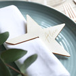 Lisa Angel Engraved Set of Two Personalised Wooden Star Napkin Holders