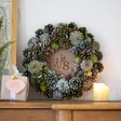 Lisa Angel Personalised Green Pinecone Christmas Wreath