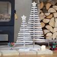 Lisa Angel Personalised Sparkly Natural Wood Christmas Tree Ornament