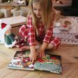 Inside of Jellycat Leffy's Christmas Gift Book