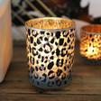 Lisa Angel Large Leopard Print Glass Candle Holder