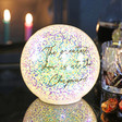 Unisex Personalised Large LED Iridescent Glitter Light Globe
