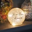 Lisa Angel Personalised Medium LED Gold Glitter Light Globe