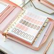 Women's Kikki.K Large Pink Leather Personal Zip Planner
