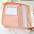 Teen's Kikki.K Large Pink Leather Personal Zip Planner