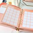 Lisa Angel Kikki.K Large Pink Leather Personal Zip Planner