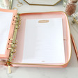 Luxury Kikki.K Large Pink Leather Personal Zip Planner
