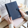 Lisa Angel Personalised Kikki.K A5 Leather Notebooks