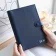 Lisa Angel Navy Personalised Kikki.K A5 Leather Notebook