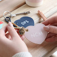 Lisa Angel Ladies' Personalised Kikki.K Leather Keyring Heart