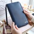Lisa Angel Ladies' Personalised kikki.K Leather Travel Wallet with Zip