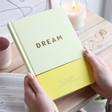 Lisa Angel with Pink Kikki.K Dreams Journal: Inspiration