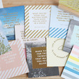 Kikki.K Set of 12 Inspirational Quote Cards and Wooden Stand