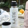 Ladies' Personalised Terrazzo Print Thermal Flask