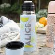 Women's Personalised Fruit Print Thermal Flask