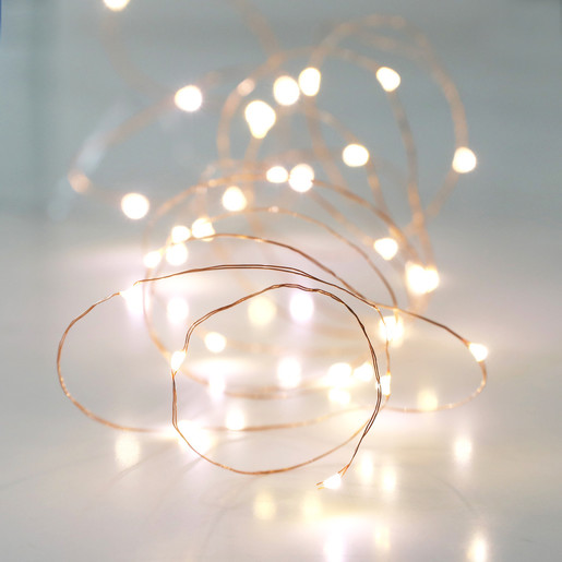 huge selection of 69ec6 bd40e 30 Battery Powered LED Copper Wire String Lights