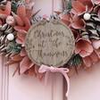 Lisa Angel Personalised Pink Glitter Pinecone Wreath