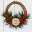 Lisa Angel Christmas Personalised Red Berry Christmas Wreath