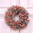 Lisa Angel Christmas Pink Glitter Pinecone Wreath