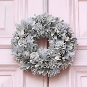 Silver Glitter Pinecone Wreath