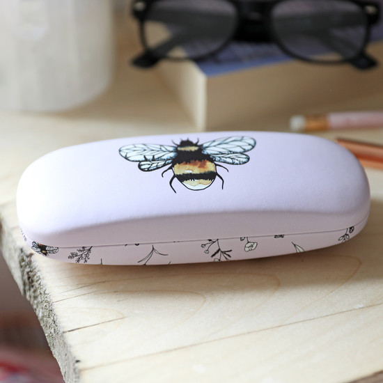 Floral Bee Glasses Case