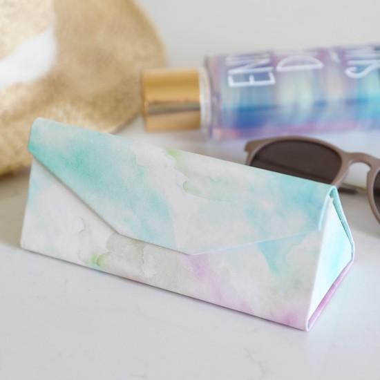 Pastel Watercolour Foldable Glasses Case