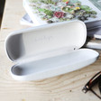Inside of Grey Personalised Name Glasses Case